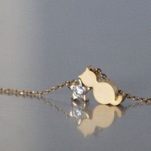 handmade Jewelry - Cat And A Star Necklace/bracelet/anklet, Handmade